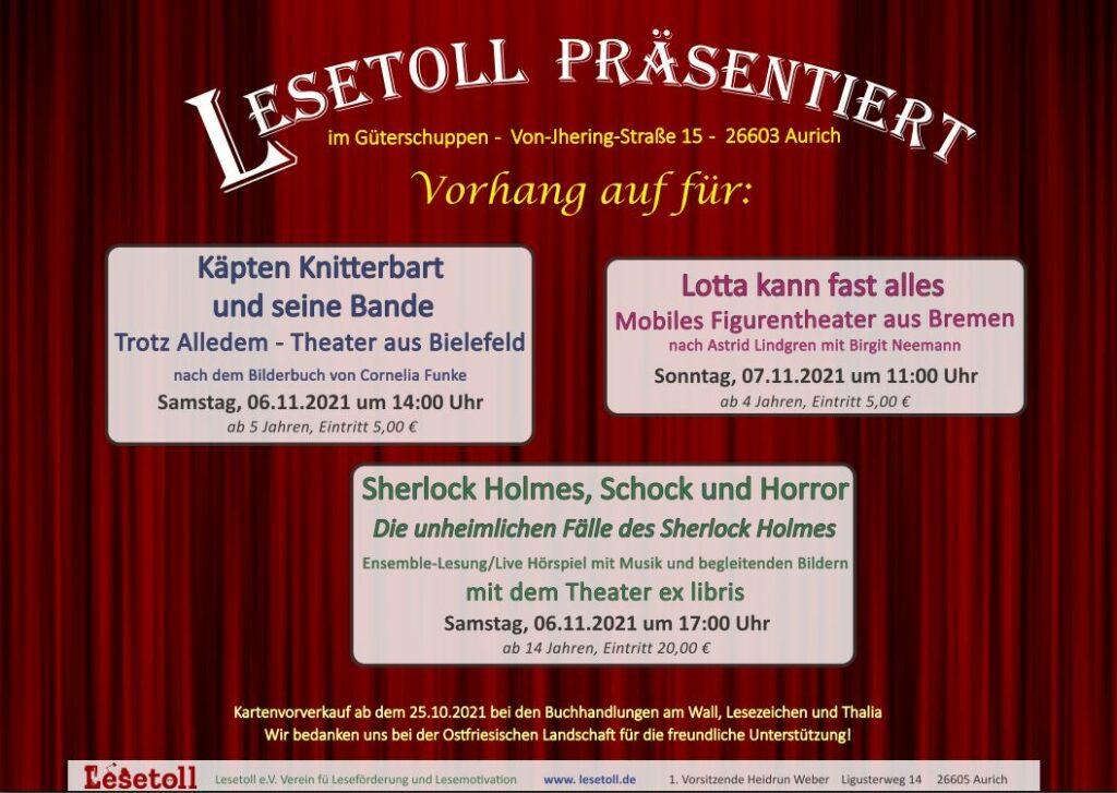 Plakat Lesetoll präsentiert
